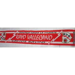 "Bufanda Rayo Vallecano ""hasta la muerte"""