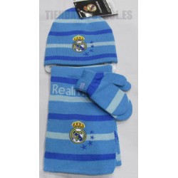 "Real Madrid Kit lana:""Gorro ,Bufanda y manoplas  """