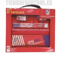 """Atlético de Madrid Set Papeleria """"foma de maletín"""""""