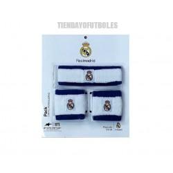 Cinta pelo y 2 muñequeras  Real Madrid
