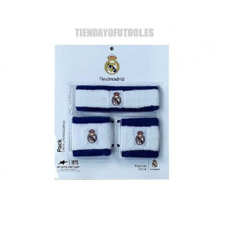 Muñequeras y diadema Real Madrid CF