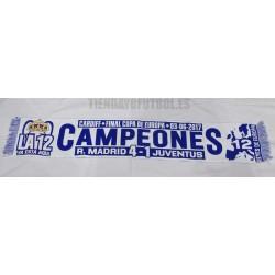 """Bufanda CHAMPIÓN R.MADRID"""" CAMPEONES EUROPA 2017 """""""