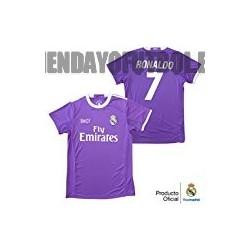 "CamisetaOficial Ronaldo ""morada"" 2016/17R.Madrid"
