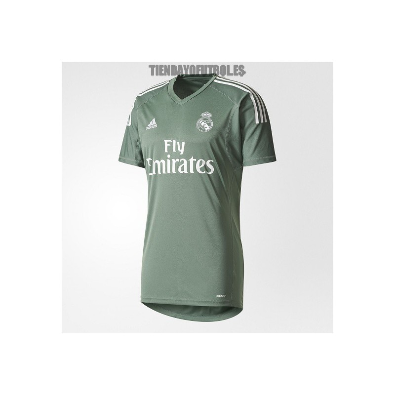 000c28c62c762 Camiseta 1ª Jr. portero 2017 18 Real Madrid CF verde. Loading zoom