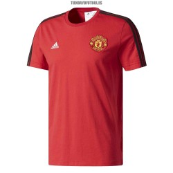 Camiseta algodón Manchester roja United Adidas