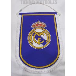 Banderín Oficial Grande  AZUL Real Madrid
