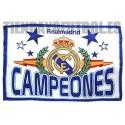 "Bandera Oficial  Real Madrid CF. ""CAMPEONES"""