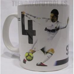Taza  oficial Sergio  Ramos  con Real Madrid