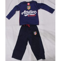 Pijama oficial invierno  Jr. Atlético de Madrid  Azul