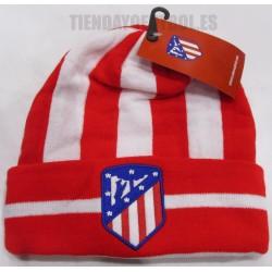 Gorro  oficial  nuevo rojo y blanco   con vuelta  Atlético de Madrid