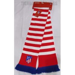 Bufanda oficial Atlético Madrid doble bordada