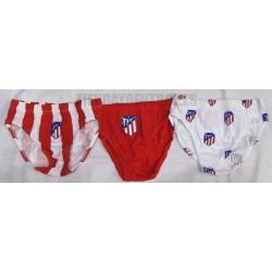 Pack 3 slips oficial  Atlético de Madrid   NUEVO ESCUDO