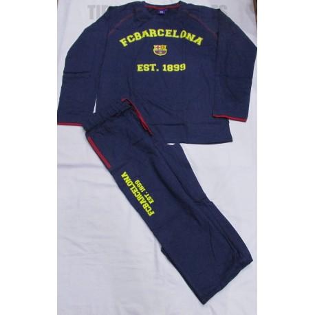 Pijama   niño/a FC Barcelona  azul