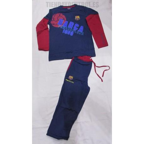 Pijama   oficial niño /a  FC Barcelona  azul
