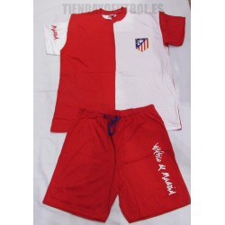Pijama oficial  corto  adulto Atlético de Madrid