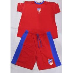 Pijama oficial  corto  adulto Atlético de Madrid  rojo