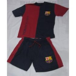 Pijama Oficial verano  niño-a FC Barcelona