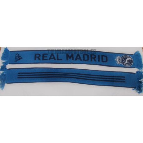 Bufanda Doble Real Madrid Adidas azul  petroleo