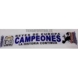 """Bufanda CHAMPIÓN R.MADRID"""" CAMPEONES EUROPA 2018."""