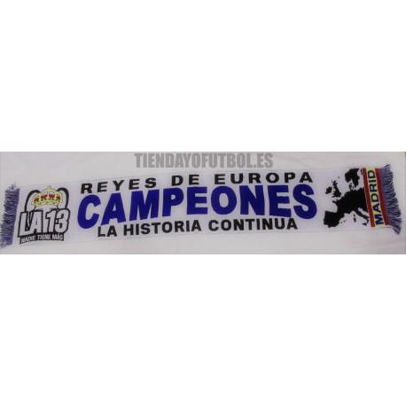 """Bufanda CHAMPIÓN R.MADRID"""" CAMPEONES EUROPA 2018"""""""