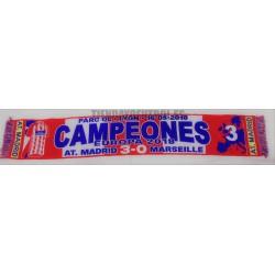 Bufanda Atlético de Madrid CAMPEONES EUROPA 2018