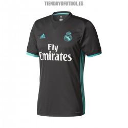 Camiseta 2ª Jr. 2017/18 Real Madrid CF Negra ADIDAS