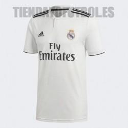 Camiseta oficial 1ª equipación Real Madrid CF 2018 /19 Adidas .