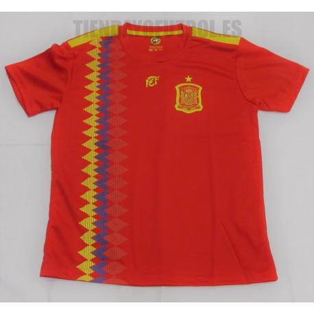 Camiseta  oficial Selección  España niño  RFEF  mundial 2018