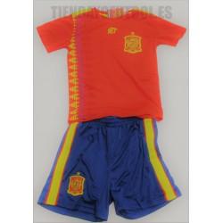 Mini Kit   Oficial  Selección España FEF rojo  mundial 2018