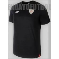 Camiseta  oficial paseo negra  2018/19 Athletic club de Bilbao   New Balance