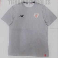 Camiseta  oficial paseo  gris  2018/19 Athletic club de Bilbao   New Balance