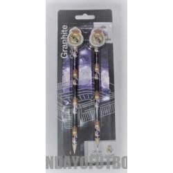 Set de dos lapiceros con goma oficial Real Madrid
