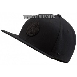Gorra Paris Saint-Germain , plana negra 2019/20 Nike