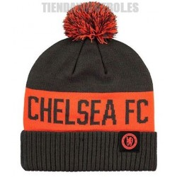 Gorro oficial pompón punto Chelsea , gris con naranja Nike