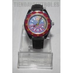 Reloj cadete FC Barcelona Correa negra esfera grana con azul