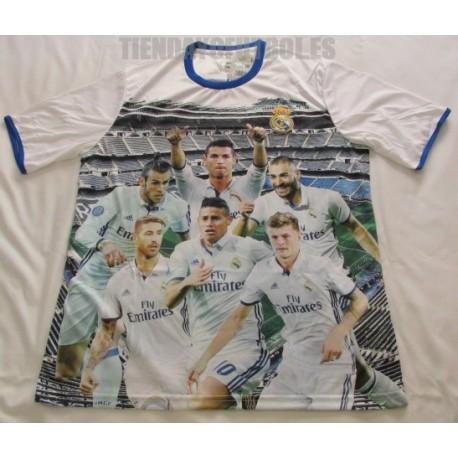 Camiseta Oficial paseo rostro jugadores Real Madrid CF