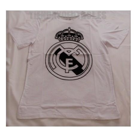 Camiseta oficial blanca espalda gris Real Madrid CF