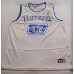Camiseta oficial Baloncesto Real Madrid económica
