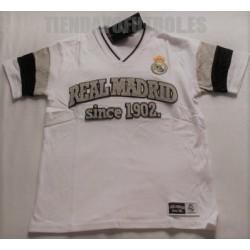 Camiseta oficial paseo Algodón Real Madrid BLANCA