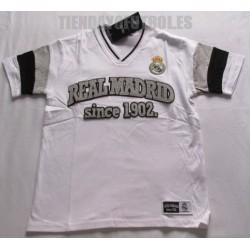 Camiseta oficial Jr. paseo Algodón Real Madrid BLANCA
