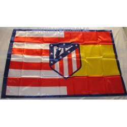"""Bandera Oficial At. de Madrid """"España"""" escudo nuevo"""