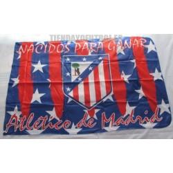 Bandera Oficial At. de Madrid retro