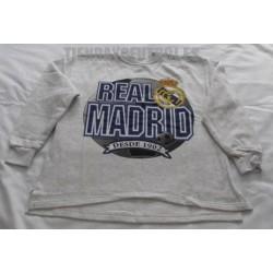Sudadera oficial Real Madrid Gris