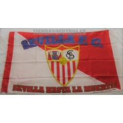 Bandera oficial Grande del Sevilla F.C. retro
