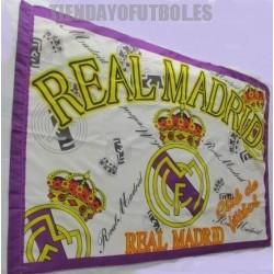 Bandera Real Madrid CF retro con tonos morados