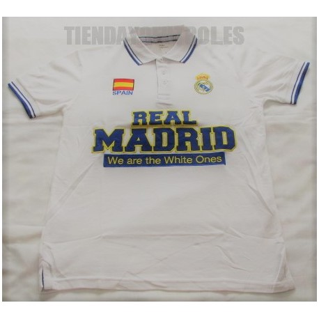 Polo oficial blanco Real Madrid