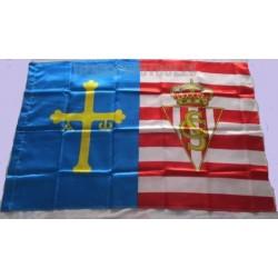 Bandera Real Sporting de Gijón, Raso