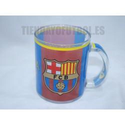 Taza oficial vidrio FC Barcelona