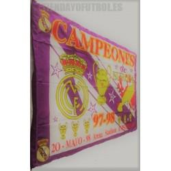 Bandera Real Madrid CF retro champions mayo/98