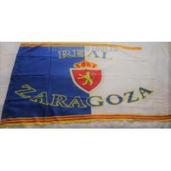 Bandera Real Zaragoza retro con bandera